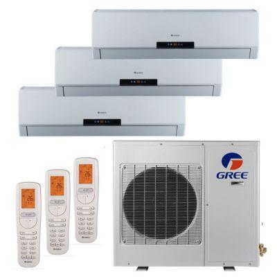 - Gree MULTI24BNEO300 - 24,000 BTU +Multi Tri-Zone Wall Mount Mini Split Air Conditioner Heat Pump 208-230V (9-9-9)