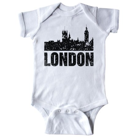 London England City Skyline with Grunge Infant Creeper