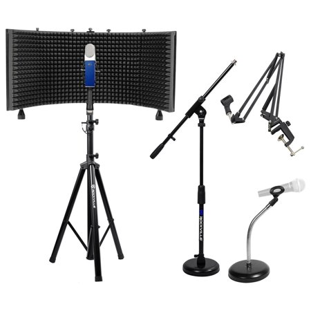 Blue Blueberry Condenser Studio Recording Microphone Mic Accessory Bundle -