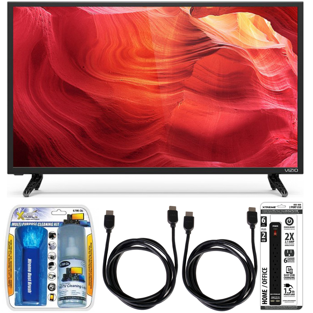 Vizio E50-D1 - 50-Inch 120Hz SmartCast LED Smart 1080p HDTV Accessory Bundle