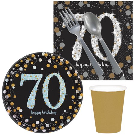 Sparkling Celebration 70th Birthday Snack Pack for 16