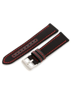 9a958179259 Product Image Hadley-Roma Men s MSM848RQ 220 22-mm Black Genuine  Kevlar   with Red