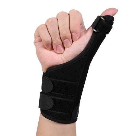 HERCHR 1pcs Long Thumb Brace for Arthritis Tendonitis Fits Both Right Hand and Left Hand - Wrist Hands and Thumb Stabilizer Application for Thumb Sprain, Arthritis, Carpal Tunnel Syndrome