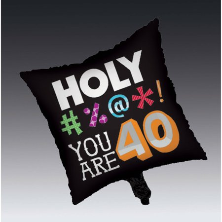 Holy Bleep 40th Birthday Mylar Balloon - 40th Birthday Paper