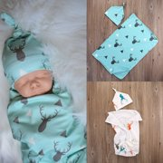 NEW Toddler Newborn Baby Boy Girl Deer Soft Stretch Wrap Swaddle Blanket Bath Towel