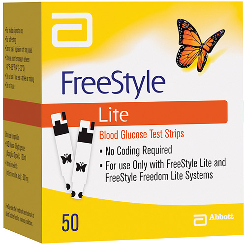 FreeStyle Lite Blood Glucose Test Strips, 50 count