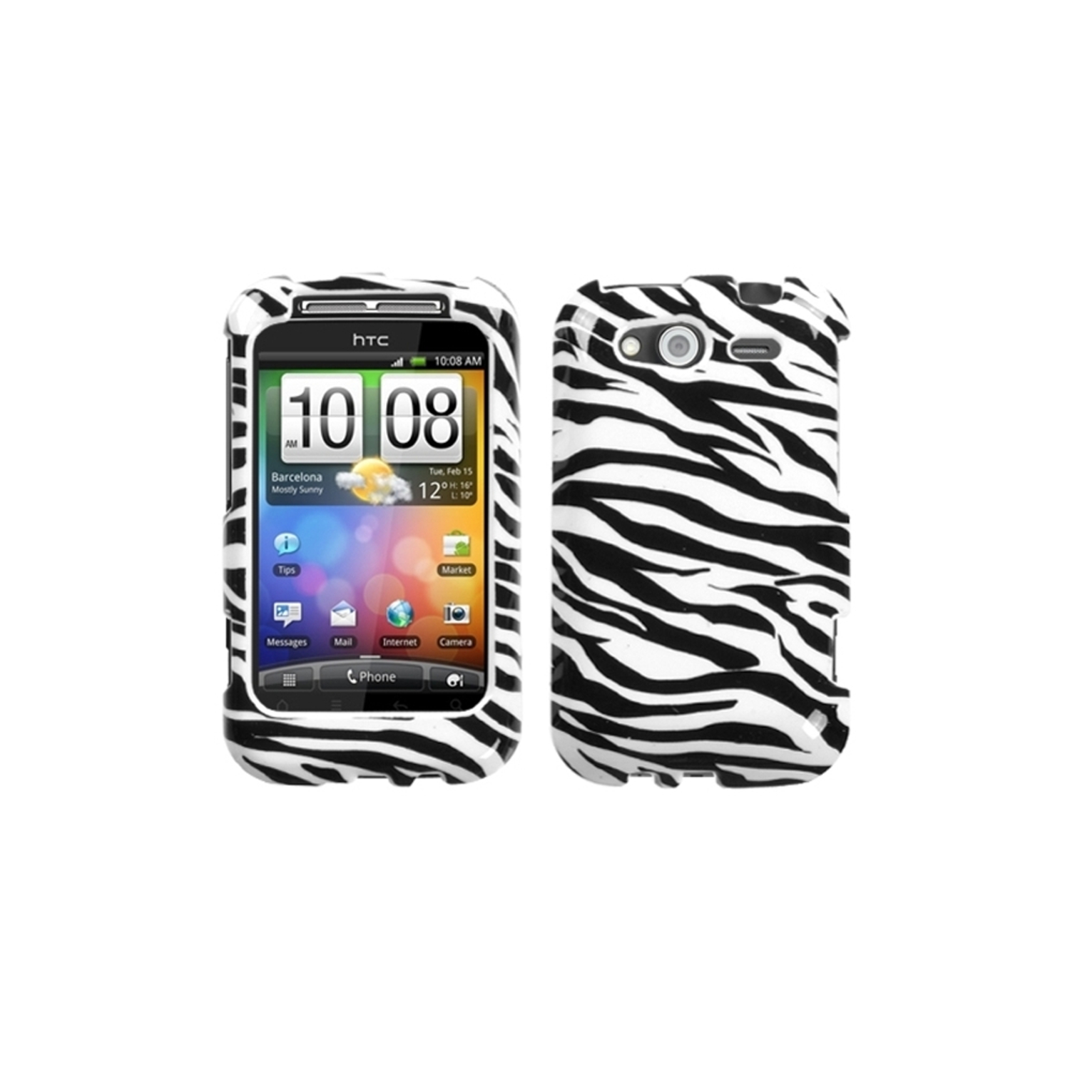 Insten Zebra Skin Phone Case for HTC: Wildfire S (GSM), Wildfire S (CDMA)