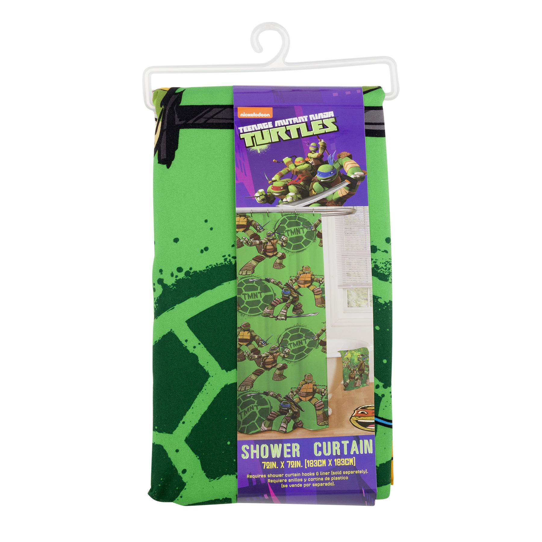 Teenage Mutant Ninja Turtles Shower Curtain, 1.0 CT