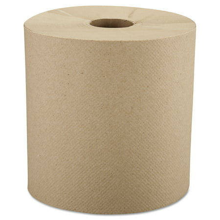 Windsoft Nonperforated Paper Towel Rolls, Brown, 6 count