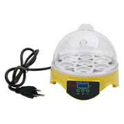 Digital Mini Fully Automatic Egg Incubator 7 Eggs Poultry Hatcher for Chickens Ducks Goose Birds