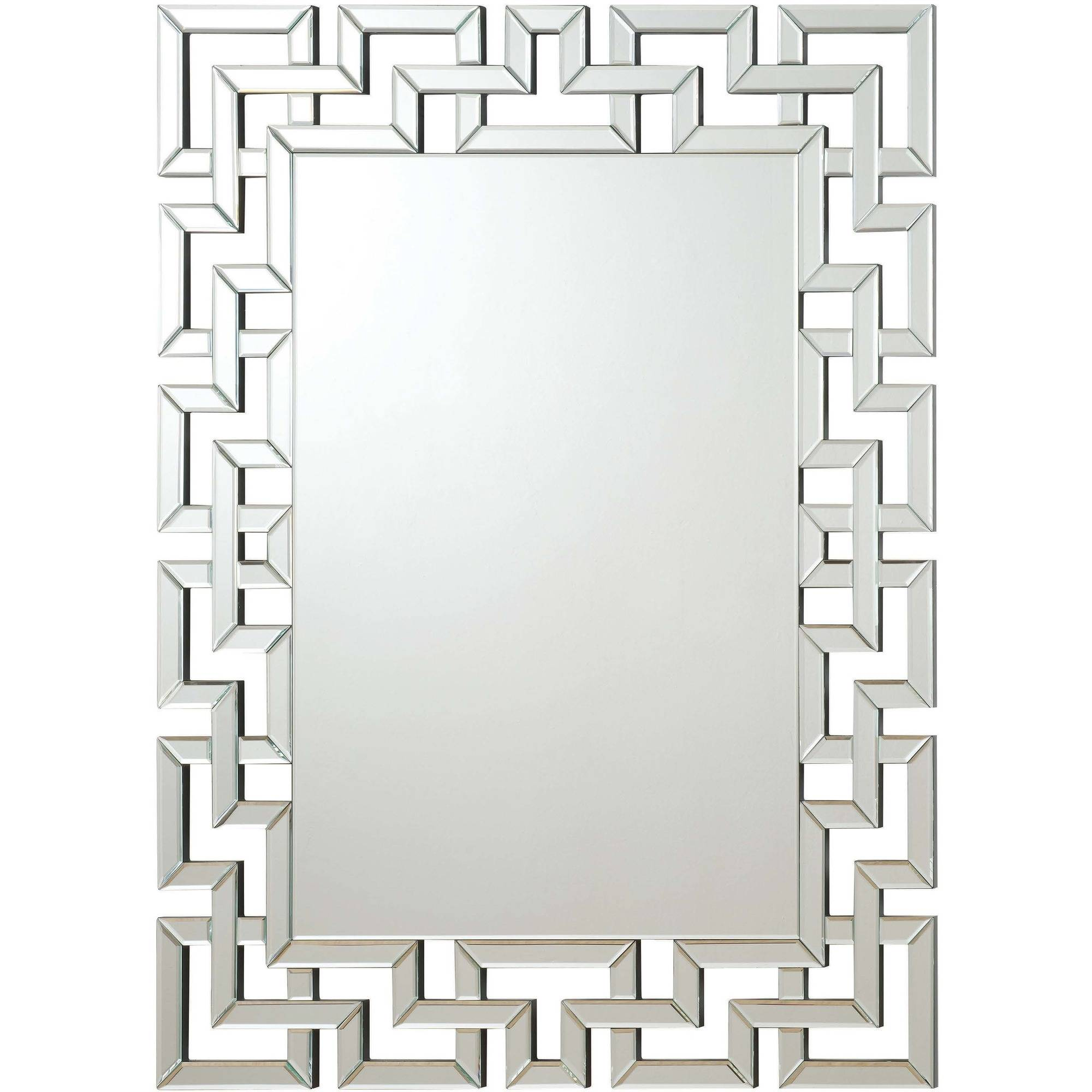 Coaster Company Mirror with Interlocking Frameless Greek Key Design by Coaster Company