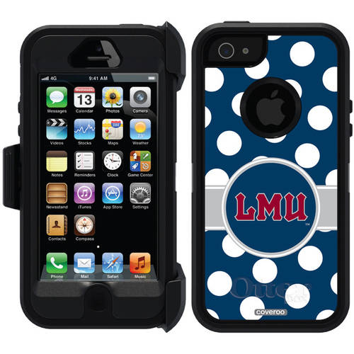 Loyola Marymount Polka Dots Design on OtterBox Defender Series Case for Apple iPhone 5/5s