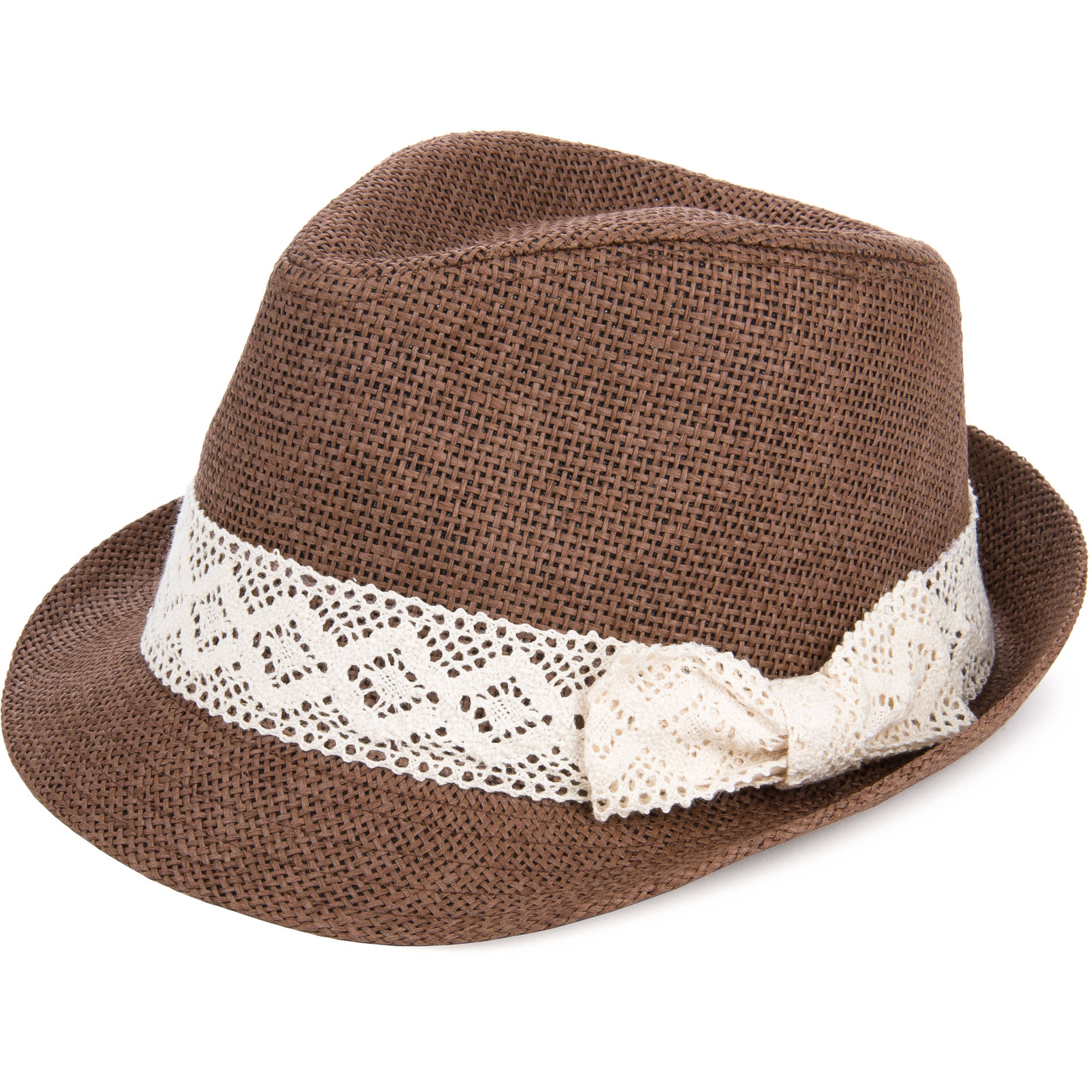 Image of AERUSI Casual Adventure Trilby Crochet Bow Hat