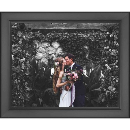 23 x 12.5 cm (9x5 inches) Modern Black Wood Picture Frame with UV Acrylic & Foam Board Back, & Hardware - image 1 de 2