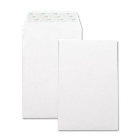 "Business Source Catalog Envelope - Catalog - 6"" X 9"" - 28 Lb - Self-sealing - Wove - 100/box - White (BSN42122)"