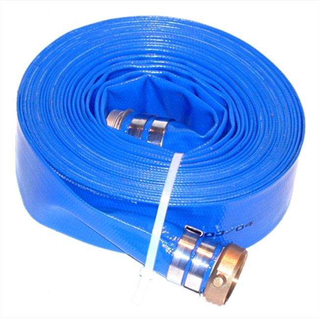 JGB Enterprises A008-0326-3550 Eagleflo Blue PVC Discharge Hose Male X Female - CXE Camlocks