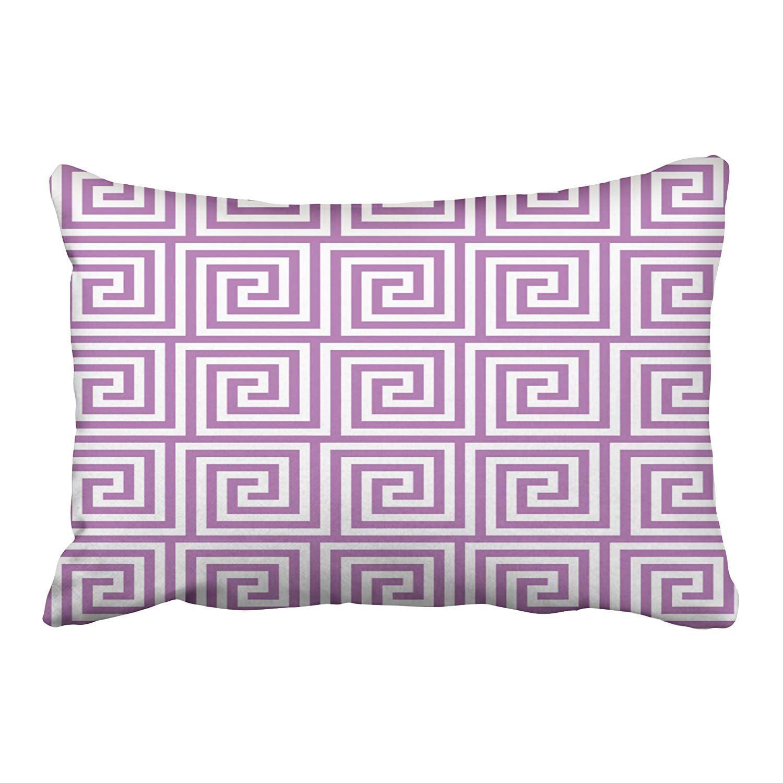 BPBOP Greek Key In Radiant Orchid Purple Pillowcase Cushion Cover 20x30 inch