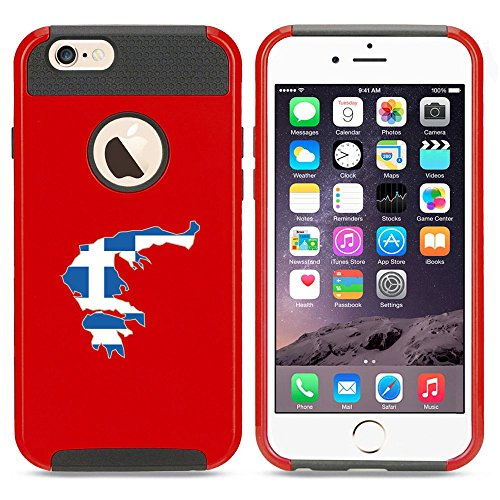 Apple iPhone 5 5s Shockproof Impact Hard Case Cover Greece Greek Flag (Red ),MIP