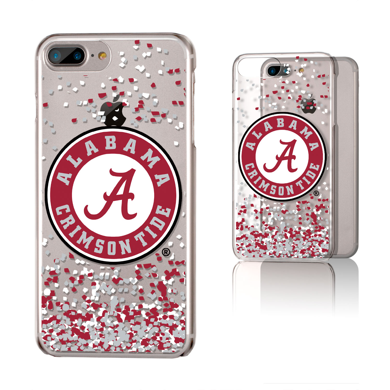 UA Alabama Crimson Tide Confetti Clear Case for iPhone 8 Plus / 7 Plus / 6 Plus