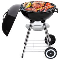 Best Choice Products 18in Portable Steel Charcoal Barbecue BBQ Grill w/ Heat Control for Patio, Picnic, Tailgate