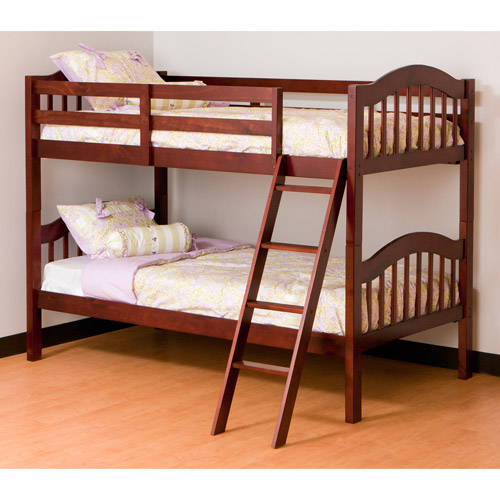 Storkcraft Long Horn Twin-Over-Twin Bunk Bed, Cherry