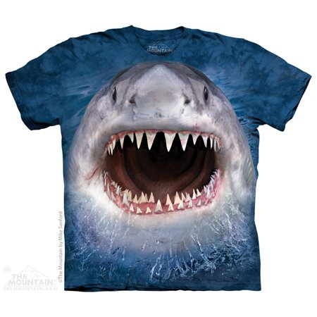 Blue Cotton Wicked Nasty Shark Design Novelty Youth T-Shirt NEW