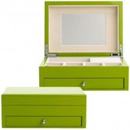 - Reed & Barton 950GRN High Gloss Finish Jewelry Box, 9-1/2-Inch Length by 6-3/4-Inch Width by 3-3/4-Inch Height, Granny Smith