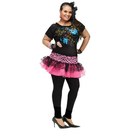 Adult 80s Pop Diva Plus Size Costume - Size 16-22 - 80s Rock Star Costumes