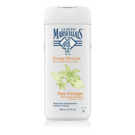 Le Petit Marseillais Gentle Shower Crème, Orange Blossom, 21.9 fl. oz (Orange Blossom Scented Bath Oil)