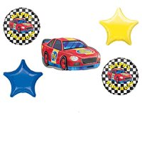 Race Car Theme Birthday Party Supplies Stock Car Balloon Bouquet Decorations