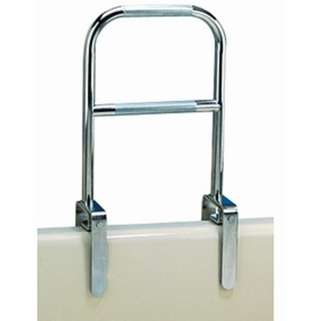 Chrome Bath Tub Rail (Carex Dual Level Bath tub Safety Grab Bar Rail with Chrome Finish )