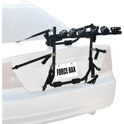 Cycle Force Rax Deluxe 3-Bike Trunk Car Rack