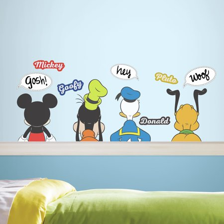 Mickey And Friends Peel And Stick Wall Decals With Dry