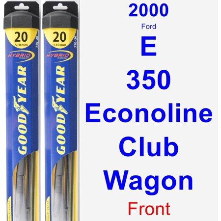 2000 Ford E-350 Econoline Club Wagon Wiper Blade Set/Kit (Front) (2 Blades) - Hybrid