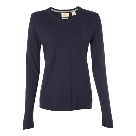 - Weatherproof Women's Cotton Cashmere V-Neck Sweater, Style W151363