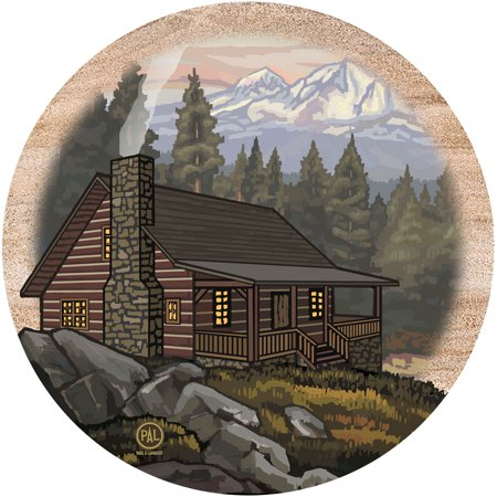 Thirstystone Drink Coasters Set, Mountain Cabin