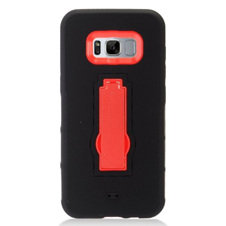 Samsung Galaxy S8 Plus Case, Samsung Galaxy S8+ Case, by Insten Symbiosis Dual Layer [Shock Absorbing] Hybrid Stand Rubber Silicone/Plastic Case Cover For Samsung Galaxy S8 Plus S8+