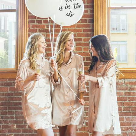 Personalized Blush Satin Night Shirt Large Extra Large Walmart