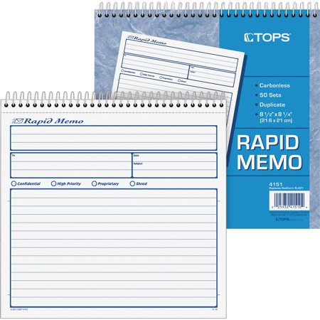 TOPS, TOP4151, Rapid Memo Book, 1 (Rapid Memo Book)