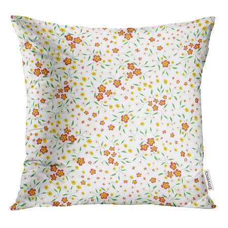 STOAG Delicate Ditsy Pattern Lot of Little Flowers on Vintage Girlie Throw Pillowcase Cushion Case Cover 16x16 inch ()