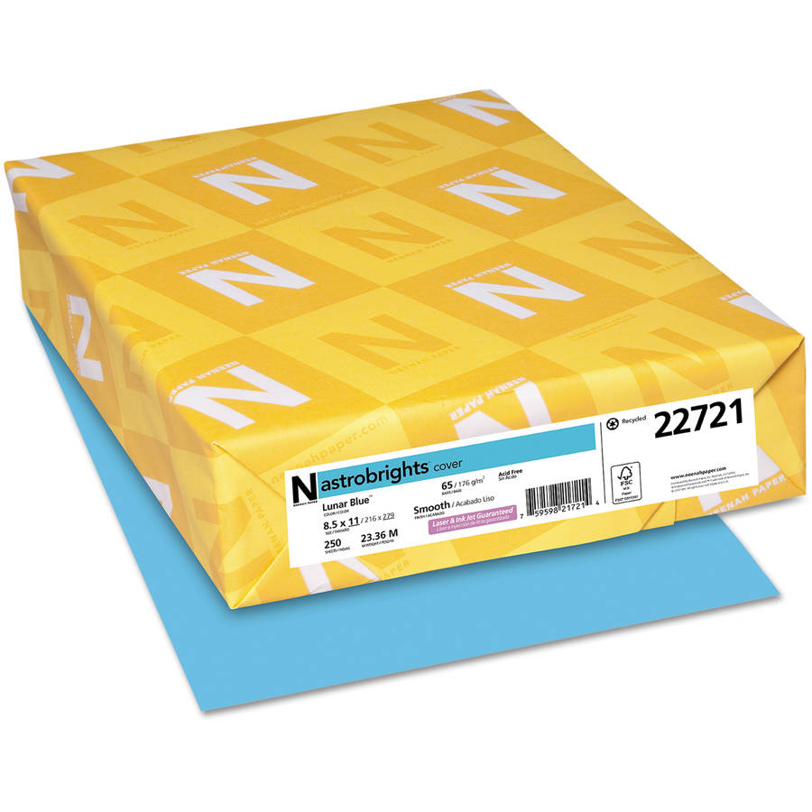 Wausau Paper Astrobrights Colored Card Stock, 65lb, Letter-size, 250 Sheets