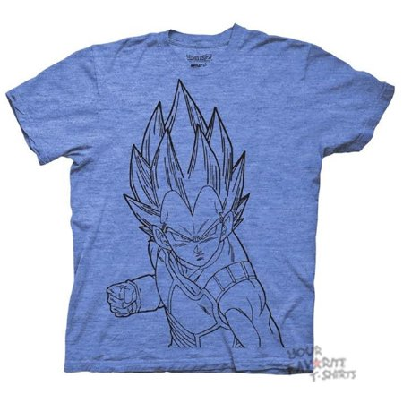 Dragonball Z Vegeta Line Art DBZ Anime Licensed Adult Shirt S-3XL - Best Adult Anime