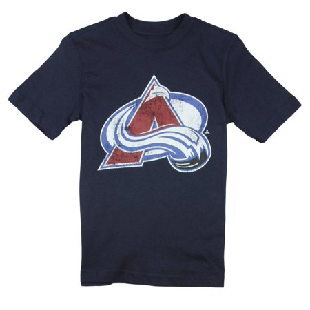 NHL Hockey Youth Boys Colorado Avalanche Vintage Tee - Navy Blue ()