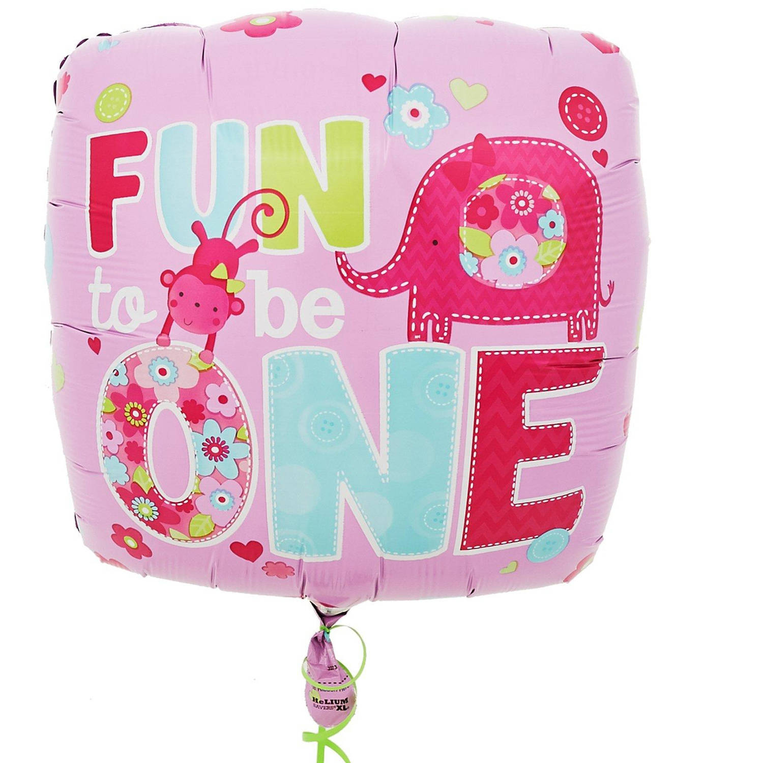 Fun at One Girl Foil Balloon