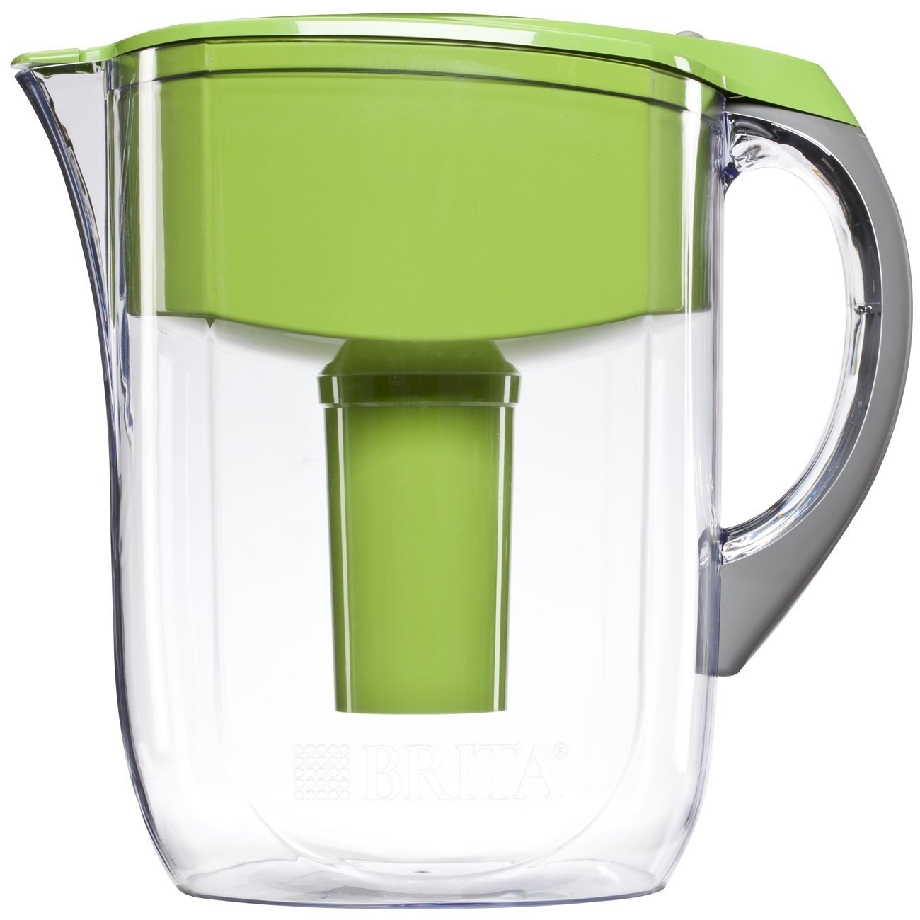 10 Cup Grand Water Pitcher with 1 Filter, BPA Free, Green, Water Count Black Filters Capacity Metro Pacifica Stream Chalk 10 Cup Space Gray Violet Filtration.., By Brita
