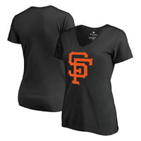 San Francisco Giants Fanatics Branded Women's Cooperstown Collection Forbes V-Neck T-Shirt - Black
