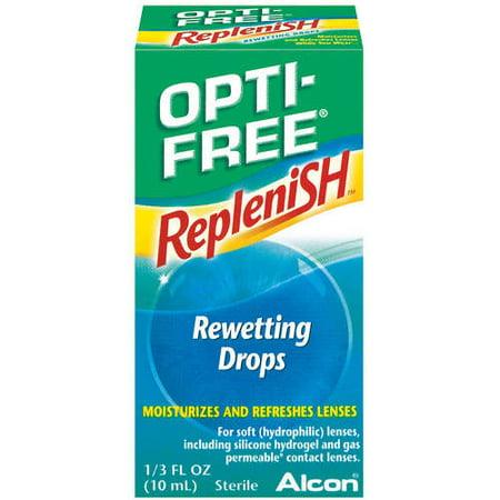 Image of Alcon Opti-Free Contact Lens Rewetting Eye Drops, .33 fl oz