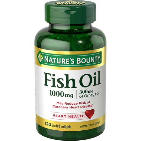 Nature's Bounty Fish Oil Omega-3 Softgels, 1000 Mg, 120