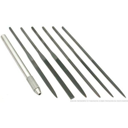 7 Needle Files Jewelers Watchmakers Metal Filing -