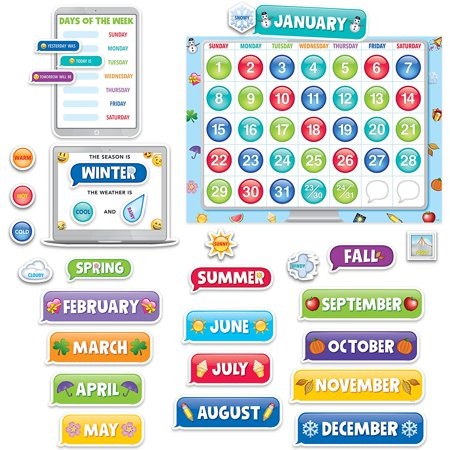Bulletin Board Academic Calender (2649), 67-piece set contains a calendar chart, 12 month headlines, 31 pre-numbered calendar days, and 4 blank calendar days, a.., By Creative Teaching Press](Bulletin Board Calendar)